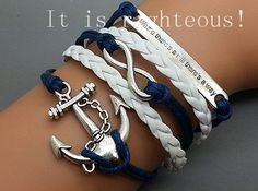 anchorinfinitymotto bracelet Charm Bracelet by righteousBracelet