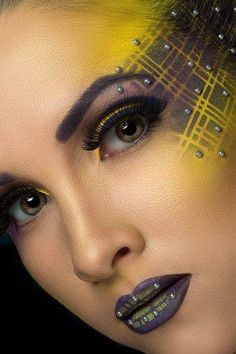Makeup art yellow