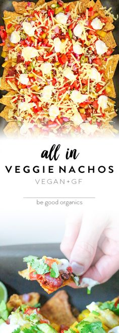 The most delicious fully loaded vegan nachos. Simple to make in just 20 minutes, and healthy too! No meat mince, no dairy cheese or sour cream, baked not fried, and naturally gluten free. Get your nacho on here! Christian Vegan, Veggie Nachos, Dairy Free, Gluten Free, Nut Free, Vegetarian Recipes Easy, Vegetarian Food, Vegan Dinners, Going Vegan
