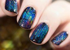 Black Opal nail art