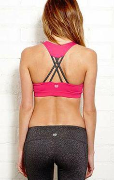 criss cross sports bra