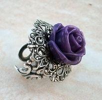 Purple Rose Ring by *Aranwen on deviantART