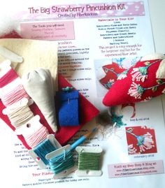 """The Sunflower Pincushion Kit   Every time I look at something created from fabric my second thought, (right after, """"oooh, ahhh""""), is """"I bet ..."""