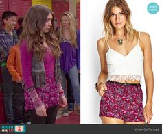 Riley's pink printed shorts on Girl Meets World.  Outfit Details: http://wornontv.net/49133/ #GirlMeetsWorld