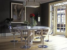 Clear dining room chairs - modern twist