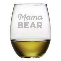 Mama Bear Stemless Wine es