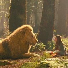 Lucy & Aslan in Narnia: Prince Caspian. Aslan Narnia, Narnia Lucy, Prince Caspian, Lion Of Judah, Cs Lewis, Matthew Lewis, Chronicles Of Narnia, The Avengers, Tolkien