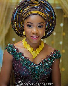 "7,412 Likes, 40 Comments - Africa's Top Wedding Website (@bellanaijaweddings) on Instagram: ""Lovely #Igala bride Ele!  @dikophotography  Aso Oke by @herthesir_concepts  #BellaNaijaWeddings"""