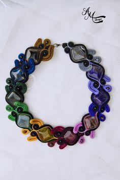 Soutache necklace by AMDesign