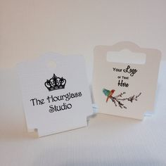 The perfect size fold over tags for your jewelry with printing and cutting options. Yes, you can have your fonts in a different color (no white) if you like.