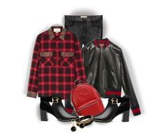 """""""Gucci In Plaid"""" by onesweetthing ❤ liked on Polyvore featuring Gucci, Ted Baker and Vita Fede"""