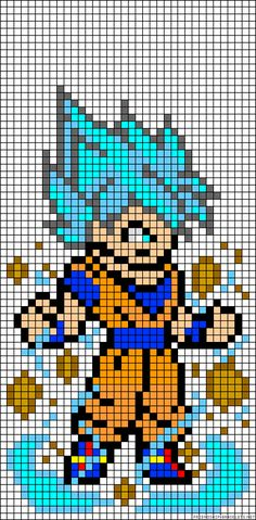 Goku - Dragon Ball Perler Bead Pattern