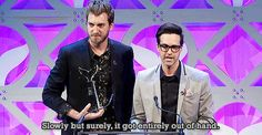 """""""Slowly but surely it got entirely out of hand"""" lol I love Rhett and Link :)"""