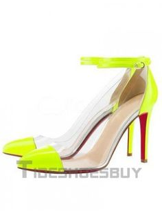 Green Red Bottom Ankle Strap PC Women's Shoes