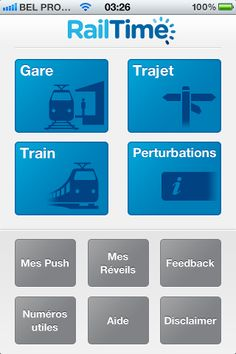 RailTime, l'application d'Infrabel