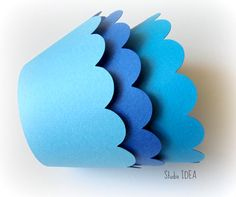 Mixed Blue Cupcake Wrappers Standard Size Cupcake by StudioIdea, $5.00