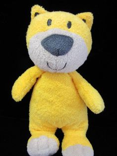Carters Just One You Yellow Tiger Cat Kitty Plush Soft Toy Lovey Stuffed Rattle #JustOneYou