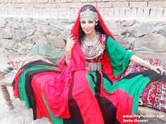 seeta_qasemi_in afghan colors dresss
