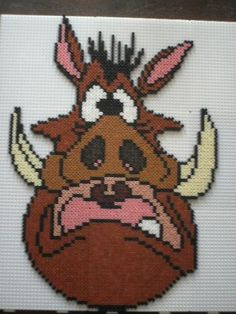 Pumbaa - The Lion King hama perler beads by marmotte88130