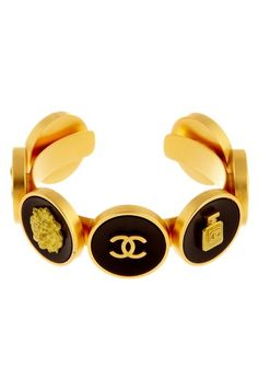 Coco Vintage Jewelry Chanel Charm Coin Cuff