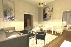 Ravintola/ Restaurant 3D project 3d Projects, Restaurant, Interiors, Restaurants, Decorating, Dining Room, Home Interiors
