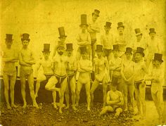 Group photo of the Brighton Swimming Club, 1863.