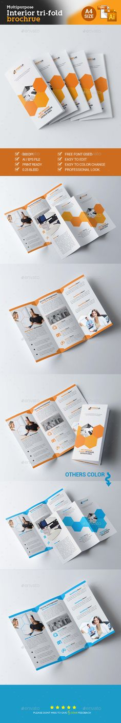 Trifold Corporate Business Brochure Template Vector EPS, AI #design Download: http://graphicriver.net/item/trifold-corporate-business-brochure-/14083358?ref=ksioks