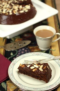 Decadent Chocolate Almond Cake with Sour Cream Icing from Downton Abbey
