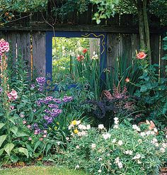 Brighten on a Budget  An inexpensive way to brighten a dark corner is to hang a mirror that reflects light from sunnier parts of the garden.    Here, not only does the looking glass remedy a black hole, but it also makes plants and flowers seem to stretch into an adjacent space.