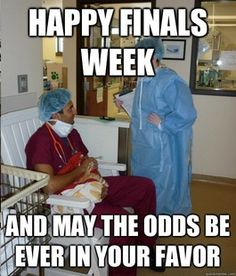 overworked veterinary student meme meets hunger games... We know this is past due but it's too great not to pass along!  #VetTech #FinalsWeek