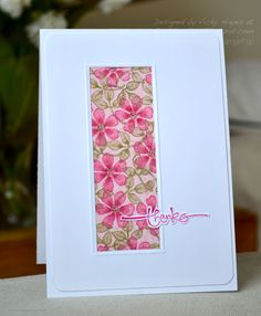 Crafting ideas and supplies from Vicky at Crafting Clare's Paper Moments: Bloomin' Marvellous letterbox-style Cute Cards, Diy Cards, Your Cards, Quick Cards, Karten Diy, Card Making Inspiration, Paper Cards, Flower Cards, Creative Cards