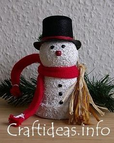 Christmas Crafts for Kids - Clay Pot Snowman