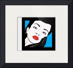 """""""Sade""""+by+Frank+Schuster,+Soquel,+Santa+Cruz+//+For+the+Pop+Art+enthusiast.+Illustration+of+a+beautiful+woman+in+the+pop+art+style+of+Andy+Warhol,+Roy+Lichtenstein+and+Patrick+Nagel.+Original+illustration+by+Frank+Schuster.+//+Imagekind.com+--+Buy+stunning+fine+art+prints,+framed+prints+and+canvas+prints+directly+from+independent+working+artists+and+photographers."""