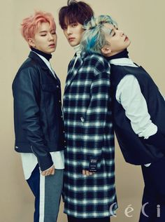Kihyun, Minhyuk, Wonho (Monsta X) - Céci Magazine November Issue '16