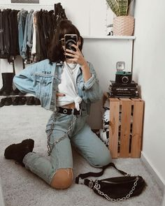Grunge Outfits, Edgy Outfits, Retro Outfits, Cute Casual Outfits, Simple Outfits, Fashion Outfits, Fashion Tips, Hipster Vintage, Estilo Hipster