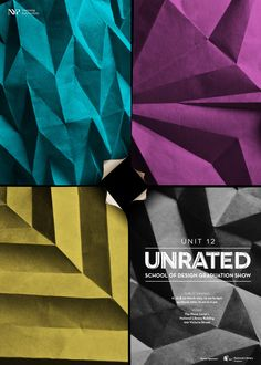 Unrated School of Design Graduation Show #poster #handmade #paper