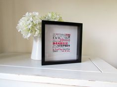Personalized Wedding Gift Framed Print Personalised by NJRDesigns £21