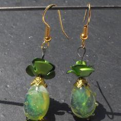 Belles boucles d'oreille perles murano spécial fêtes des mères! bcl.2301