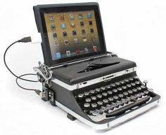 USB Typewriter Computer Keyboard. This is my speed!!!