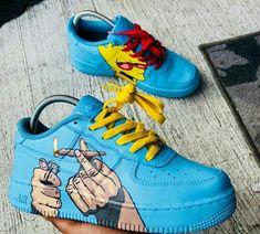 e515809a5 Nike's Personalizados · Bart Simpson 4:20 Sapatos Fofos, Armário De  Sapatos, Sapatos Lindos, Tênis