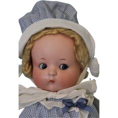 """Antique 13"""" LARGE """"Just Me"""" Armand Marseille Googly Doll c. 1929."""
