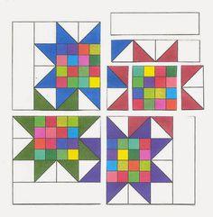 TUTORIAL Interlocking Stars Confessions of a Fabric Addict: - A One-Block Quilt!