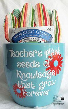DIY Flower Pot Teacher Gift Idea - a Silhouette Vinyl Project