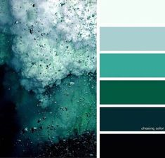 Shades Of An Ocean Storm whole house color palette paint interior Nature Color Palette, Green Colour Palette, Color Schemes Colour Palettes, Palette Art, Green Color Schemes, Color Palate, Green Master Bedroom, Master Bedrooms, Living Room Themes