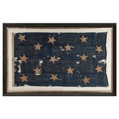 One Of the Earliest Flags in America: Authentic 15 Star US Navy Jack | From a unique collection of antique and modern political and patriotic memorabilia at http://www.1stdibs.com/furniture/folk-art/memorabilia-political-patriotic/