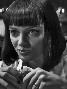Uma Thurman as Mia Wallace - 'Pulp Fiction', 1994, directed by Quentin Tarantino.