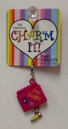 My Diary Charm: $4.99.  For more information or to check availability, call or email Polka Dots.916-791-9070. polkadotsproshop@gmail.com