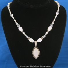 Rainbow Moonstone With Designer Necklace by Lisa Sperling This Item was SOLD