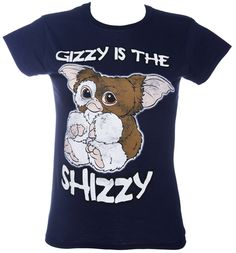 Ladies Navy Gizzy Is The Shizzy Gremlins T-Shirt