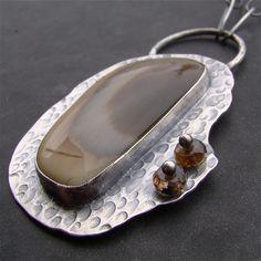 Imperial jasper and garnet pendant